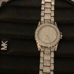 Glam rhinestone watch very bling